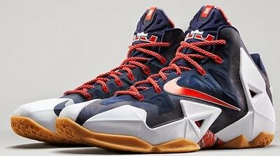 competitive price e7020 355fd Nike Lebron XI 11 Independence Day July 4th USA SIZE 8( 616175-164 )