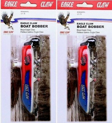 2 Pack Eagle Claw Lazer Sharp Bass Boat Fishing Float Bobbers New in Packages