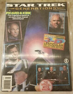 Star Trek Generations Magazine Lenticular Cover #1 Vf/nm Free Shipping