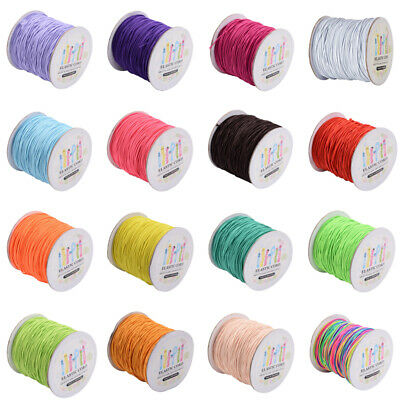 1 Roll 2mm Nylon Outside and Rubber Inside Round Elastic Cord 40m/roll Crafts