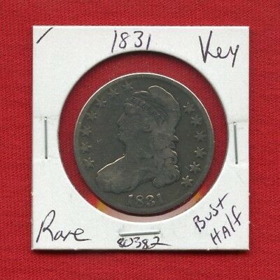 1831 Capped Bust Silver Half Dollar 80382 Nice Coin Us Mint Rare Key Date Estate