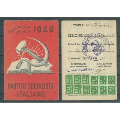 CARD PSI YEAR 1949 / SOCIALIST PARTY ITALIAN / sect. 6TH / BREDA MF42827