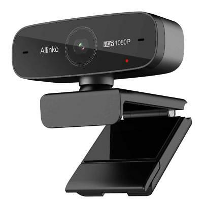Webcam 1080P Auto Focus with HDR H.264 Dual Microphones, Allinko 660 Ultra...