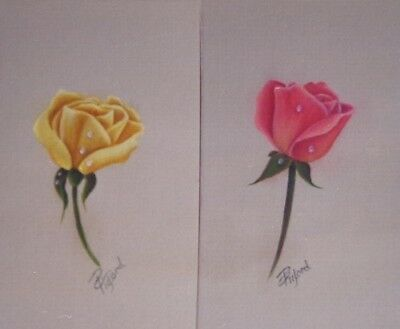"""Phyllis Tilford vintage tole painting pattern """"Roses & Raindrops"""""""