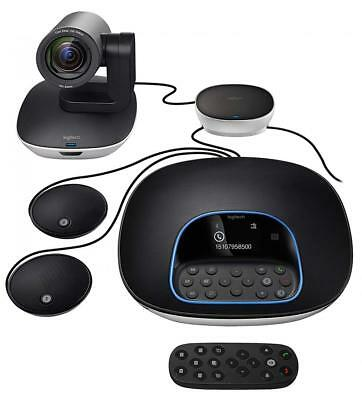 Logitech Group Video Conferencing Bundle with Expansion Mics for Big Meeting...