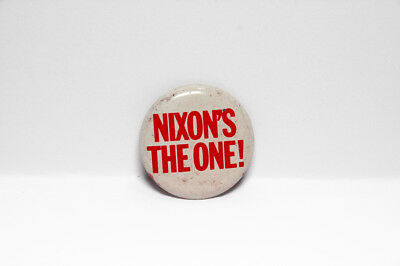 NIXON'S THE ONE  Vintage 1968 Campaign Pin-on Button