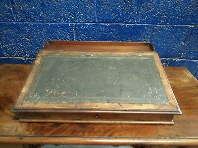 Stunning ~Antique ~Writing Slope ~Leather Top ~Mahogany ~VGC
