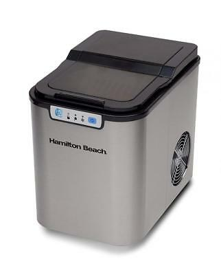 Hamilton Beach PIM-1-1A Portable Ice Maker, Black with Stainless Steel
