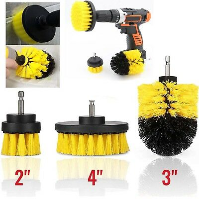 3PCS drill brush for Car Carpet wall and Tile cleaning MEDIUM DUTY(YELLOW)