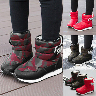 Child Baby Girl Boy Snow Camouflage Shoes Kids Winter Warm Sneakers Ankle Boot