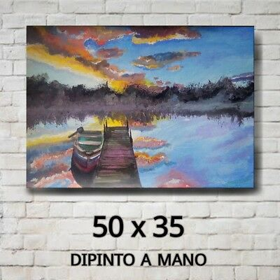 """Quadro 50x35 Moderno Astratto DIPINTO A MANO """"Flyin or Floatin?"""" - Hand Painted"""
