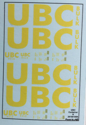 UBC Container Decals 1:160 oder Spur N
