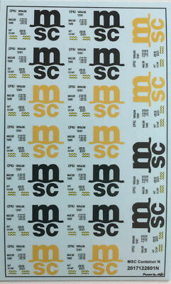 MSC Container Decals 1:160 oder Spur N