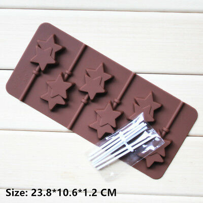 Star Magic Wands Silicone Cake Decorating Cookie Chocolate Mold Baking Tools