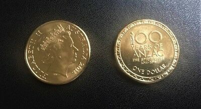 2018 Australia 100 Years of ANZAC One Dollar $1 Uncirculated Coin