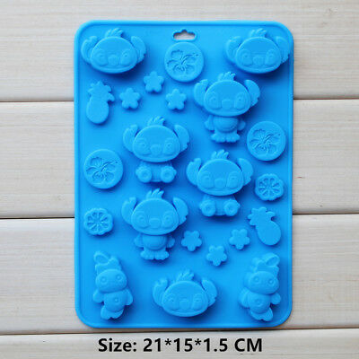 Cartoon Character Silicone Fondant Cookie Cake Decorating Baking Mold Tools
