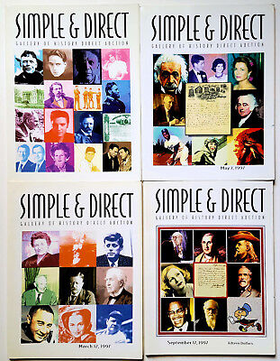 Lot of 4 - Simple & Direct Gallery of History Direct Auction Catalogs