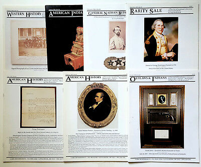 Lot of 7 - Gary Hendershott American Historical items Auction Catalogs