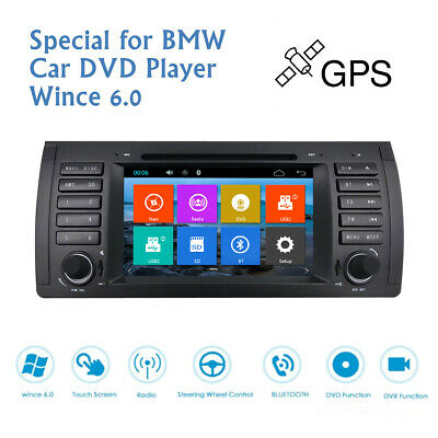 7'' Touch Screen Car Stereo DVD GPS Player  Navigation Radio for BMW E39 E53 X5