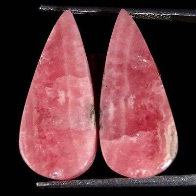 20.00Cts 100% Natural Pink Rhodochrosite Pair Pear Cabochon Loose Gemstone