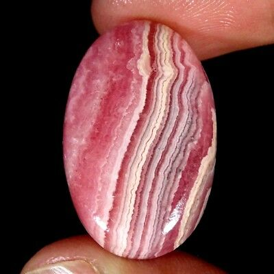 31.00Cts 100% Natural Pink Rhodochrosite Oval Cabochon Loose Gemstone