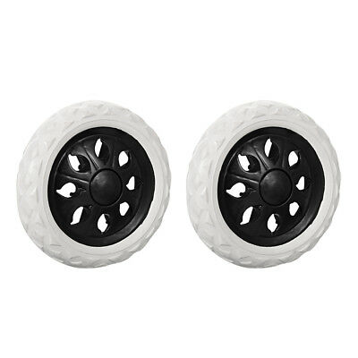 Shopping Cart Wheels Trolley Caster Replacement 6.5-Inch Dia Black 2pcs