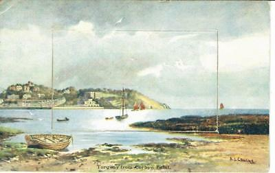 Novelty Artist Aj Couche Torquay From Corbyn Point 1913