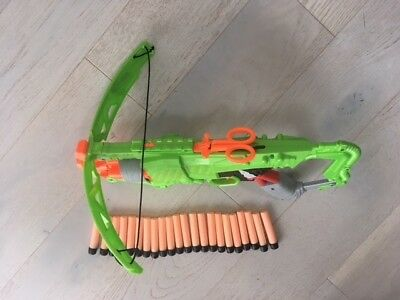 Nerf Zombie Strike Outbreaker Bow Real Crossbow Action and 22 Nerf Bullets