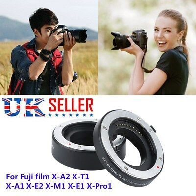 UK Auto Focus Macro Close-up Extension Tube Adapter Kit for Fuji FX X-Pro1 mag