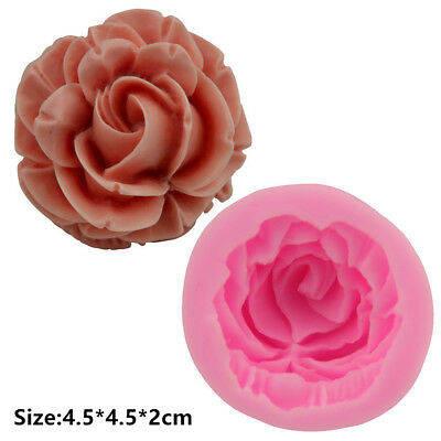 2 Pcs Packed 3D Rose Silicone Cake Mould Fondant Chocolate Decorating Mold Tools