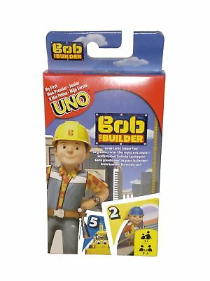 Mattel Games UNO Bob the Builder Card Game Junior Extra Large Kids Cards New