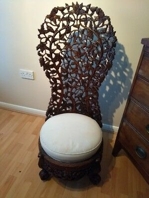 Anglo Indian carved chair