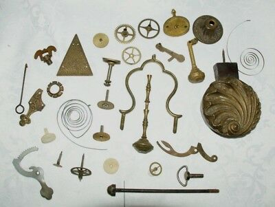 Collection of Vintage/Antique Clock Parts, Spares/Repair/Scrapyard