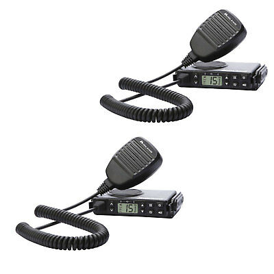 Midland Micromobile GMRS 15 Channel 2 Way Radio w/ Antenna & Microphone (2 Pack)