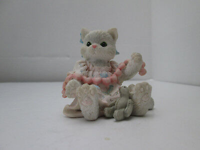 1992 Enesco Calico Kittens Figurine A Good Friend Warms The Heart Cat 2152