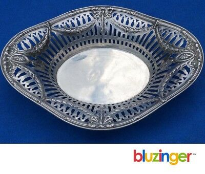 Antique Webster Sterling Silver Oval Pierced Wall Bowl