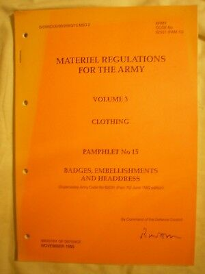British Army Clothing Regulations Badges Embellishments History Military Uniform