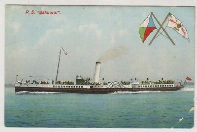Shipping postcard - Paddle Steamer P.S Balmoral - RP (A189)