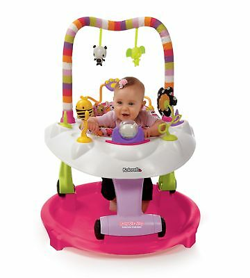Kolcraft Baby Sit & Step 2-in-1 Activity Center and Walker, Pink Bear Hugs