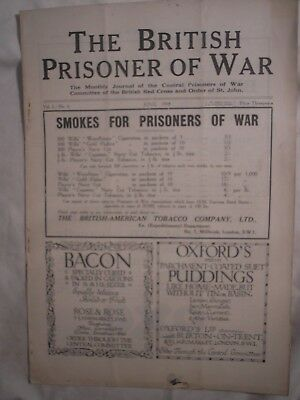 British Army POW Magazine 1918 Turkey Germany Ruhleben Berne RND Camp History