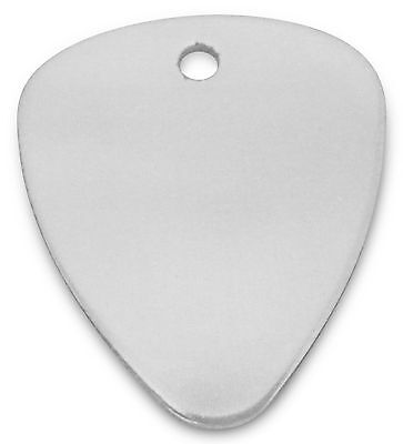 Engraved / personalised Silver Anodized guitar pick / plectrum in pouch - C8SLR