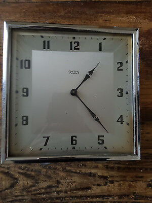 Vintage Smiths 30hr Art Deco Mantel Clock-Retro