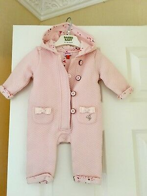 Ted baker Baby Girls Coat Snowsuit Age 3-6 Months Bunnies Blossom Print