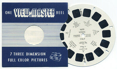 VENICE Italy 1949 Belgium-made Sawyer's ViewMaster Single Reel 1630