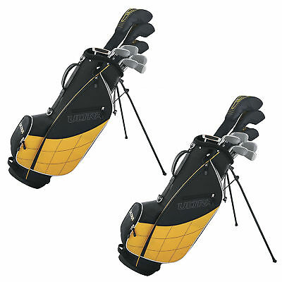 Wilson Ultra Men's 13-Piece, Left-Handed Golf Club Set, Black & Yellow (2 Pack)