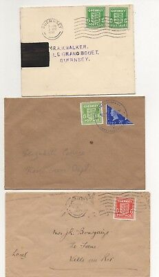 GUERNSEY GERMAN OCCUPATION x 3 COVERS