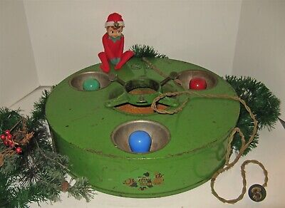 VINTAGE 1920s BELMONT METAL CHRISTMAS TREE STAND 3 Color Light Bulbs WORKING