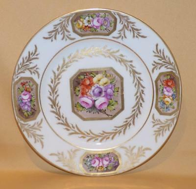 Samson Paris Copying Derby Handpainted Flowers Plate C1850-70