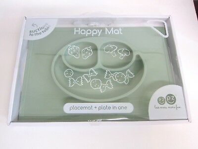 NEW ezpz The HAPPY MAT Placemat + Plate in One Baby Toddler Feeding Silicone