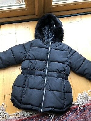 Girls DKNY Thick Padded Coat Age 8 Ex Cond